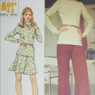 Simplicity 5841 retro sewing pattern pants top skirt size 10 B 32 1/2 Knits only