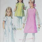 Simplicity 7568 vintage 1968 sewing pattern girls dress size 4 B 23