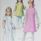 Simplicity 7568 vintage 1968 sewing pattern girls dress size 4 B 23