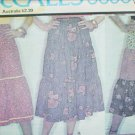 McCall 5696 sewing pattern misses tiered skirts size 10 waist 25 UNCUT