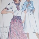 Butterick 5325 sewing pattern misses wrap skirt and top size 10 UNCUT