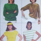 Simplicity 8088 sewing pattern misses pullover tops for knits size 10 to 12 UNCUT