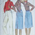 Butterick 5191 sewing pattern misses jean skirt and pants size 25 inches UNCUT