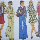 Simplicity 5918 sewing pattern misses size 14 UNCUT vintage 1973 suit skirt pants