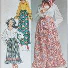 Simplicity 9112 vintage 1970 sewing pattern skirt blouse sash UNCUT size 10