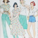 Butterick 6147 sewing pattern misses top skirt pants shorts size 8 to 10 UNCUT