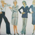 McCall 5454 sewing pattern misses jacket wrap skirt pants blouse size 10 UNCUT
