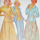 McCall 6165 sewing pattern uncut size 10 misses skirt jacket pants