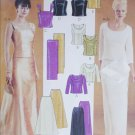 McCall 3436 sewing pattern evening prom bodice skirt sizes 6 8 10 UNCUT