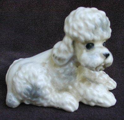 Vintage ceramic poodle dog from salt & pepper Japan