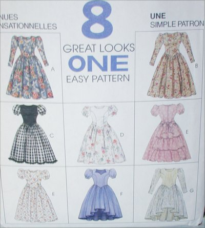 McCall 7541 sewing pattern girls dress 8 variations size 7