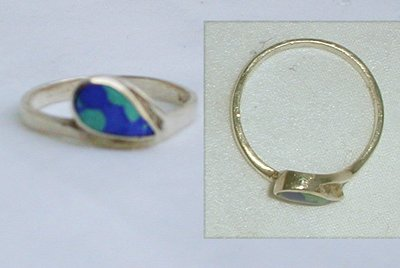 Sterling silver and turquoise ring size 8 jewelry