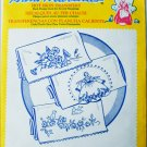 Aunt Martha Morning Glory and Lady Pillowslip iron on pillow embroidery transfers MIP