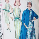 Simplicity 1911 vintage 1956 sewing pattern dress and coat size 11 B 31 1/2