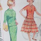 Simplicity 2626 vintage 1958 sewing pattern 2 pc dress size sub teen 8S B28