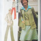 Simplicity 6516 sewing pattern cardigan top stretch knits pants skirt uncut size 14 B36
