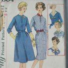 Simplicity 2804 vintage 1958 sewing pattern dress size 14 b34 partially cut
