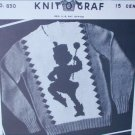 Knit O Graf 830 vintage 1949 knitting pattern girl sweater Majorette sz 6 to 12