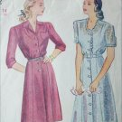 Simplicity 1042 vintage 1944 sewing pattern dress size 14 bust 32