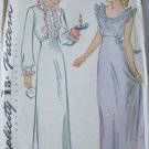 Simplicity 1136 vintage 1944 sewing pattern misses nightgown size 16 B34