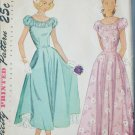 Simplicity 2392 vintage 1948 sewing pattern dress gown size 13 bust 31 UNCUT