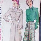 Simplicity 1742 vintage 1946 sewing pattern lumber jacket skirt size 16 B34
