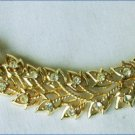 Vintage choker necklace rhinestone flower center spray gold tone vintage jewelry