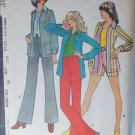McCall 3182 sewing pattern 1972 vintage easy knit pants shorts jacket size 16 B38