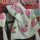 Columbia Minerva Afghan booklet 742 16 classic afghans 8 knit 8 crochet patterns