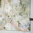Symphony scarf Arnel nylon moss green print 20 x21 inches