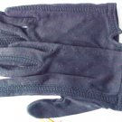 Vintage black gloves Cresendoe size 6 to 6 1/2 cotton with orlon braid new