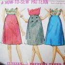 Simplicity 5583 sewing pattern A line skirt size 18 waist 30