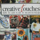 Creative touches craft book Leisure Arts sewing cross stitch patterns