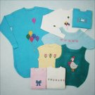 Lucky Duck cross stitch patterns sweaters baby shirts leaflet
