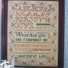 Cross stitch pattern leaflet Rememberance sampler