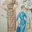 Simplicity 1847 vintage 1956 sewing pattern shirt waist dress size 14 1/2 B35