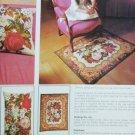 Golden Hands craft pattern booklet Vol 2 part 21 cross stitch rose rug pillow needlepoint