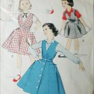 Advance 8222 vintage sewing pattern circa 1950 girl jumper blouse size 12