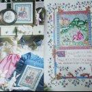 Cross stitch & Country Crafts magazine Jan/Feb 90 bunnies medieval manuscript boys room patterns