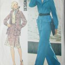 Simplicity 6603 vintage 1974 sewing pattern womans pant suit skirt size 16 B38