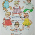 Simplicity 5947 vintage 1973 doll sewing pattern small 12-13 inches outfits