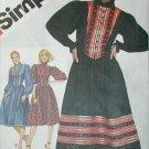 Simplicity 5348 vintage 1981 sewing pattern peasant dress size 12 UNCUt