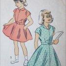 Advance 5411 vintage 1950s sewing pattern girls dress size 6 B24