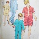 Simplicity 6427 vintage 1974 sewing pattern boys pajamas size 14 16