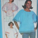 Simplicity 8206 vintage 1977 sewing pattern pullover tops size 16 B38