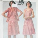 Simpliciy 7965 jiffy knit pullover dress unlined jacket size 16 B38 sewing pattern