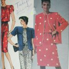 McCall 8910 misses jacket dress size 14 B36 sewing pattern 1984
