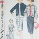 Simplicity 3579 missses overblouse skirt jacket size 18 B38 c 1960s sewing pattern