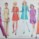 Simplicity 9029 mini dress pants vest size 14 B36 vintage 1970 sewing pattern