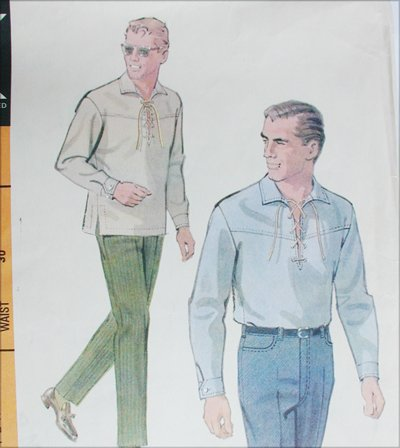 McCall 8475 men's pattern shirt slacks size 14 chest 34 vintage 1966 sewing pattern